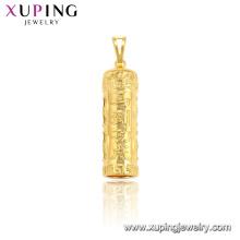 33955 xuping jewelry fashion Chinese character cylindrical pendant