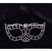 fashion metal silver plated crystal party mask masquerade masks