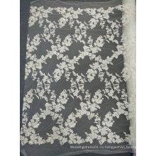 Вышивка Белый уникальные кружевные изделия ручной работы для свадебное платье 07