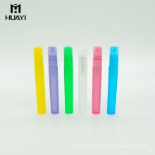 Personnalisé de couleur cylindre 10 ml vide en plastique pp brume vaporisateur