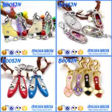 Горный хрусталь Кристалл металлического сплава обуви очарование Кулон для изготовления ювелирных изделий