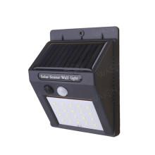 20 LED energia solar parede jardim luz