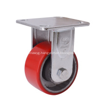 4 Inch Fixed PU on Cast Iron Caster