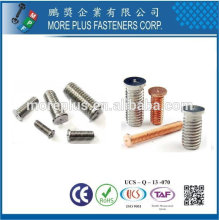 Taiwan Stainless Steel Titanium DIN 32501 Self clinching Standoff Bolts Weld Studs