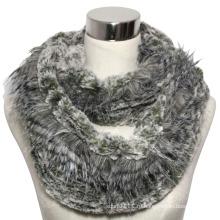 Леди мода полиэстер искусственного меха бесконечность шарф (YKY4366)