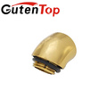 """Guten top G1/4"""" Male to Female brass Fitting, 45 degree adapter"""