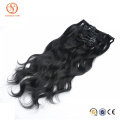 Brazilian Body Wave Double Weft Hair Extension Human Clip In Hair Extensions