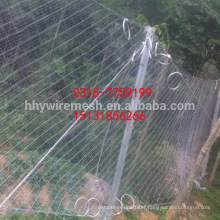 Slope Protection System rockfall barrier hot dipped galvanized rockfall netting
