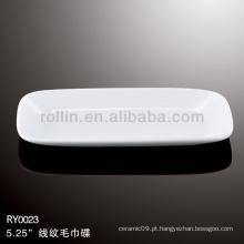 Saudável prato de toalha de porcelana branca durável especial