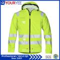 Impermeable alta visibilidad de alta visibilidad PU lluvia chaquetas (yfg115)