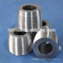 Filières de filetage usinées de précision pour barres d'armature en acier