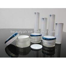 Silver Acrylic Cream Jar 5ml 10ml 15ml 30ml 50ml 100ml