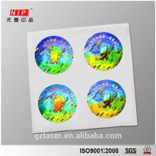 Pet anti-counterfeiting logo hologram security sticker