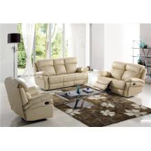 Подлинная кожаный кожаный диван для дивана Электрический диван для отдыха (765)