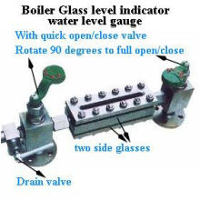 Quarter of Opening and Closing Valve Boiler Glass Level Gauge
