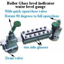 Quarto de abertura e válvula de fechamento Caldeira de nível de vidro da caldeira