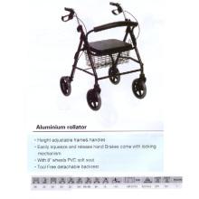 Werkzeug Freie abnehmbare Rückenlehne Alumium Rollator
