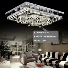 hotel chandelier square crystal fancy led ceiling lights