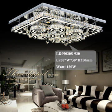 hotel chandelier square crystal led ceiling lights