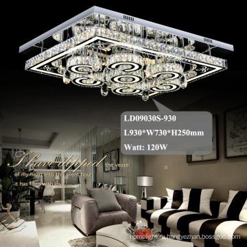 отель люстра квадрат кристалл необычные светодиодные потолочные светильники
