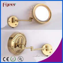 Fyeer Single Side Gold Plated Wall LED Makeup Mirror