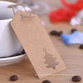Custom Hang Tags Kraft Paper Tree Shape Gift Tags