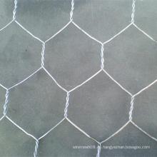 Malla de malla de alambre hexagonal con alambre galvanizado sumergido caliente