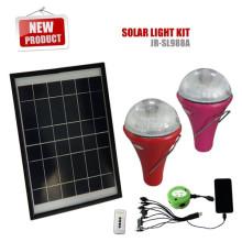 Sistema de lámpara solar con 3 bombillas led para la iluminación casera de iluminación/camping/emergencia