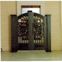 Porta de cobre de entrada de segurança de aço à moda barata