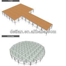 Shangai Proveedor de interior viga de la armadura de aluminio etapa cuadrada truss etapa armadura equipo