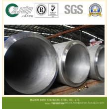 Super 304 dúplex de acero inoxidable tubo soldado