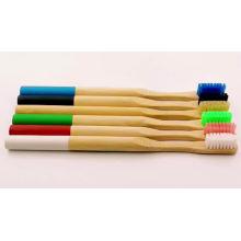 Escova de dentes de bambu de madeira do curso eco-amigável biodegradável de 100%