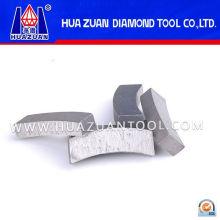 Refuerce segmentos de sierras de diamante con hormigón para reforzar el corte de hormigón