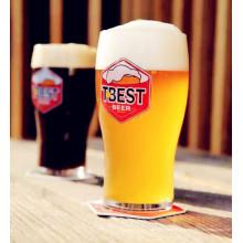Logo personnalisé Design créatif Coupe à bière Coupe en verre à bière
