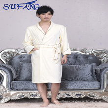 2017 new design Cheap hotel kimono bathrobe bamboo fiber bathrobe for man new design Bamboo bathrobe