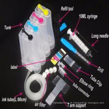 Esvazie o sistema universal da fonte da tinta Contínua 4color CISS Kit com acessórios Tanque de tinta para impressoras Pasta de tinta de bombeamento de broca