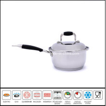 Stainless Steel Roll Edge Sauce Pan