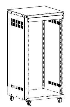 AV rack 21u 32u 37u line drawing