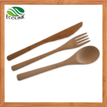 Bamboo Spoon and Fork / Bamboo Cutlery Set / Bamboo Flatware Set