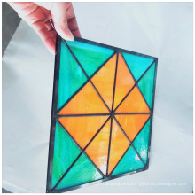 Good quality customized pattern flat stained glass for window and door decoration