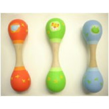 Hot Sales Inventory Children Baby Mini Wooden Double Maracas