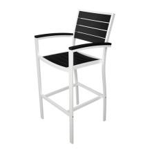 A barra de alumínio de mobília ao ar livre do pátio Polywood conjunto cadeira tamborete