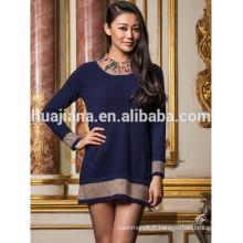 robe de tricotage des femmes de cachemire d'impression de mode