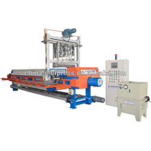 Prensa de filtro de cámara hidráulica de alta presión auto llena de los PP con el sistema de lavado