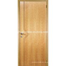 Diseño elegante de la puerta principal de madera resistente a la agua de la melamina