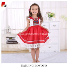 Clothing wholesale remake designer red lace dress