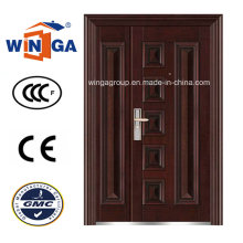 Nice Design 1200mm Size Steel Security Metal Door (W-SZ-01)