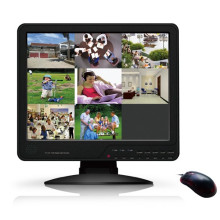 8CH network dvr with 15 inch LCD monitor