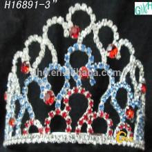 Vente en gros de strass en cristal de beauté couronnes courtes et tiaras