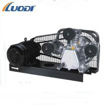 Bomba y motor de compresor de aire de 3 cilindros eléctricos pequeños accionados por correa